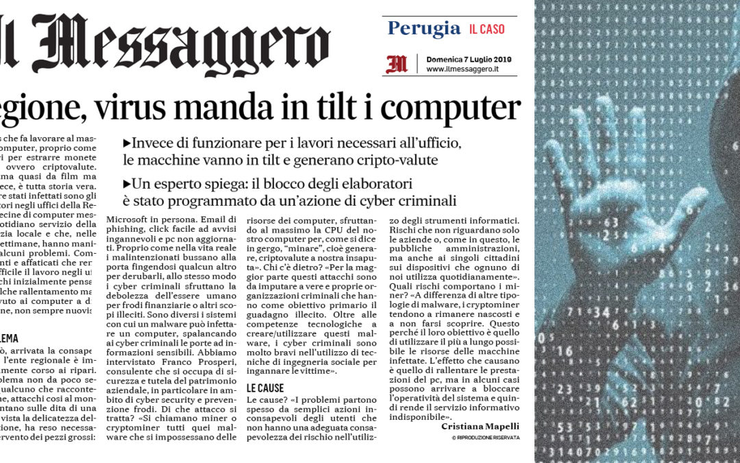 Intervista sui cryptominer a Franco Prosperi